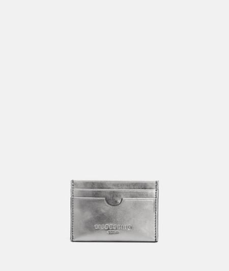 kleines Kartenetui aus Metallicleder