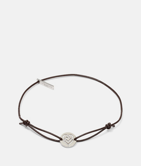 Leather bracelet with symbols from liebeskind