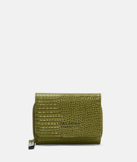 Medium-sized wallet with an embossed lizard skin pattern from liebeskind