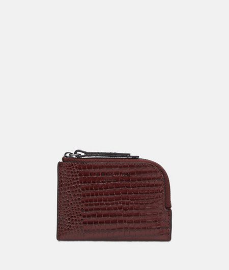 Small wallet with an embossed lizard skin pattern from liebeskind