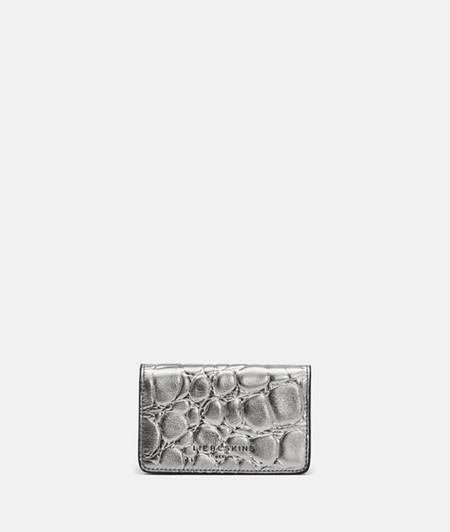 kleine Krokodil Geldbörse aus Glattleder