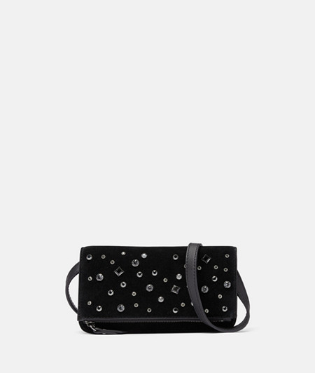 Elegant bag embellished with Swarovski® crystals from liebeskind