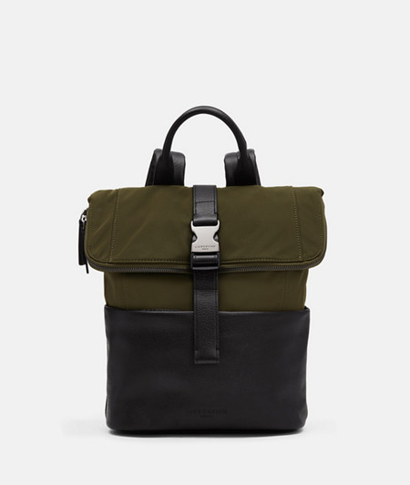 Medium-sized messenger backpack with leather appliqués from liebeskind