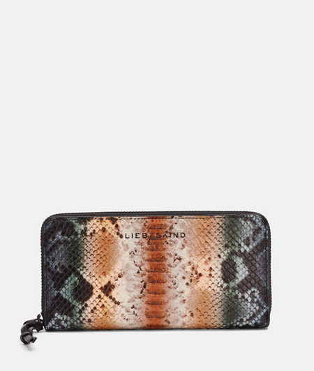 Large wallet in faux snakeskin from liebeskind