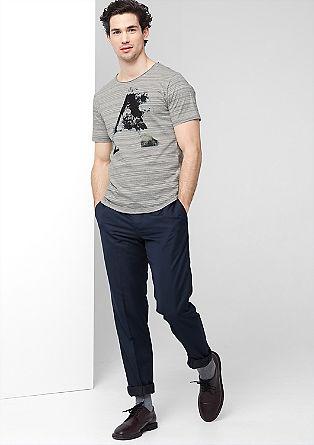 Schmales Print-Shirt