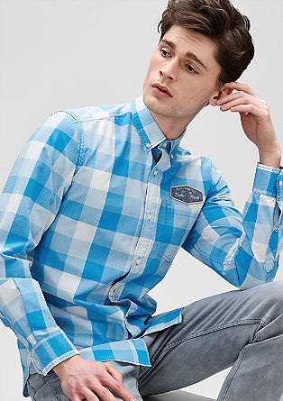 Regular: Hemd mit Brust-Patch