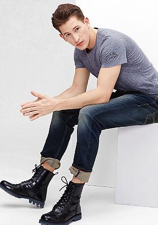 Tubx Straight: modre raztegljive jeans hlače