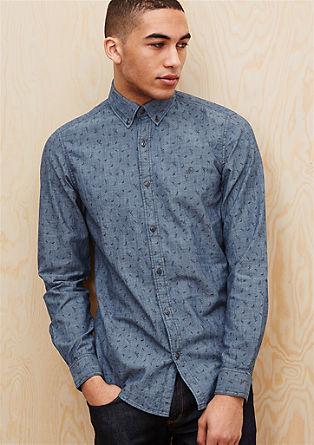 Slim: Gemustertes Button-Down-Hemd