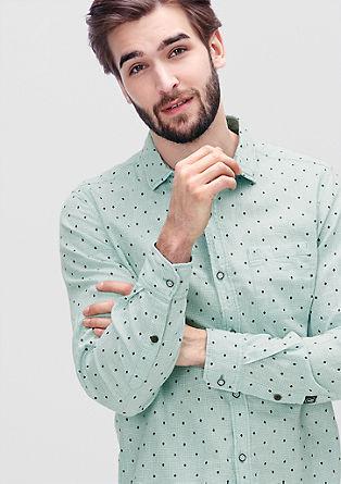 Vichykaro-Hemd mit Minimalprint