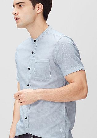 Slim: Hemd mit Stehkragen