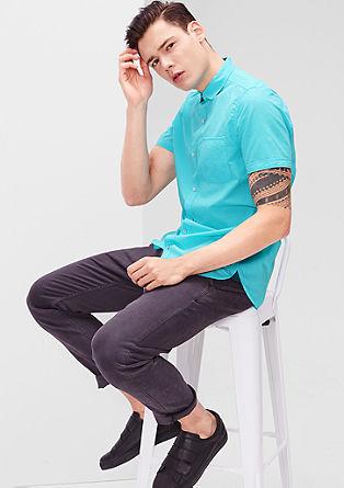 Slim: Leichtes Kurzarmhemd