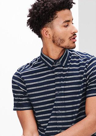 Regular: Streifenhemd aus Baumwolle