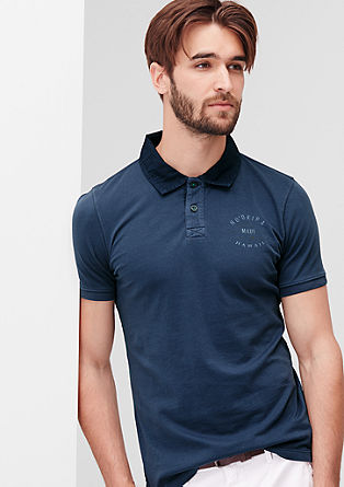 Polo shirt with a surfer print from s.Oliver