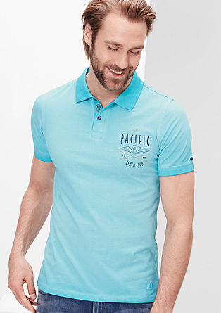Polo majica s posebnim barvnim učinkom
