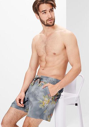 Swim shorts with a Hawaiian print from s.Oliver