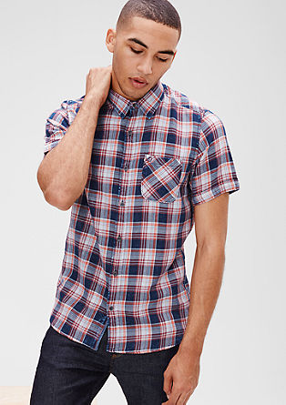 Regular: Karirasta srajca s kratkimi rokavi