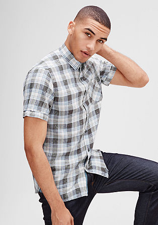 Regular: check shirt with short sleeves from s.Oliver