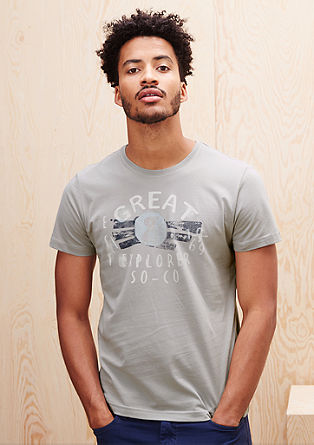T-Shirt mit Print im Used-Look