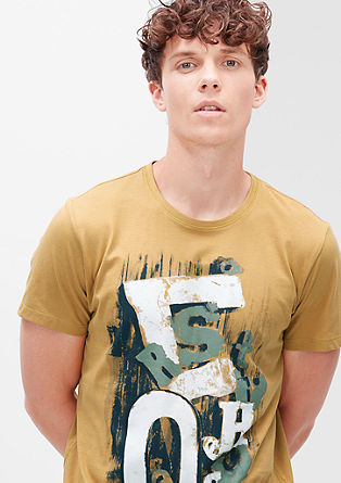 T-Shirt mit Typografie-Print