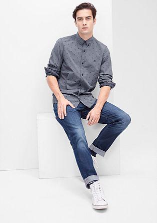 Vzorčasta srajca z dolgimi rokavi