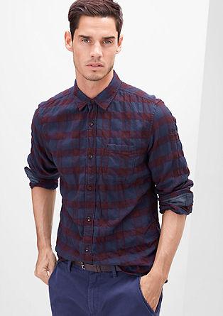 Slim: Karirasta srajca s tkanim vzorcem