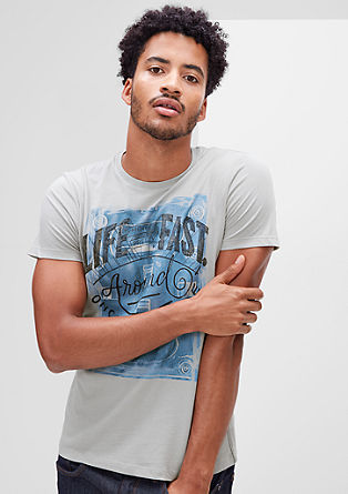 T-shirt with a vintage print from s.Oliver