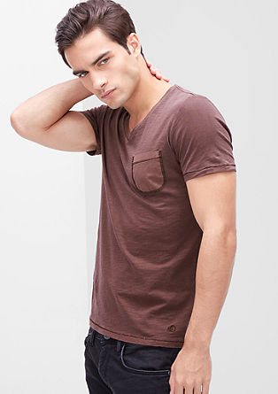 Garment-dyed T-shirt from s.Oliver