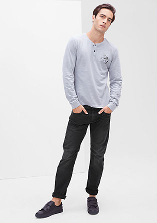 Close Slim: Graue Stretch-Jeans