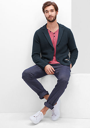 Jacket-style cardigan from s.Oliver