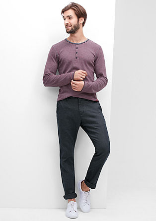 Sneck Slim: mottled cloth chinos from s.Oliver