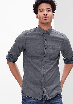 Slim fit:overhemd met gestructureerd motief