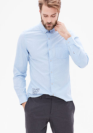 Slim: embroidered fil-à-fil shirt from s.Oliver