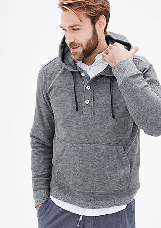 Buttoned hooded sweatshirt from s.Oliver