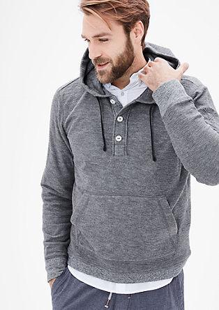 Geknöpftes Sweatshirt mit Kapuze