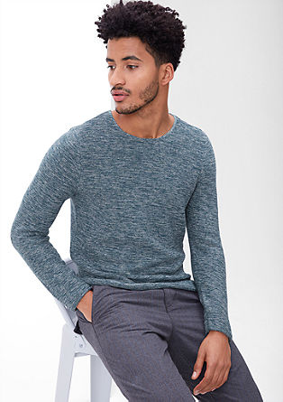 Knit jumper with a melange effect from s.Oliver