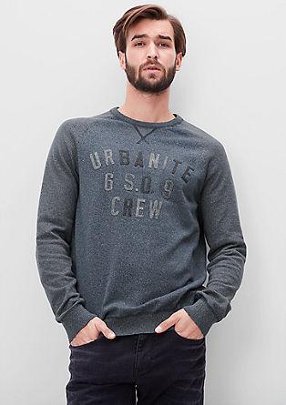 Lahek pulover s potiskom iz filca