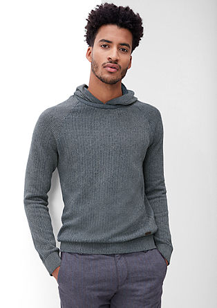 Hooded knitted jumper in a mottled look from s.Oliver
