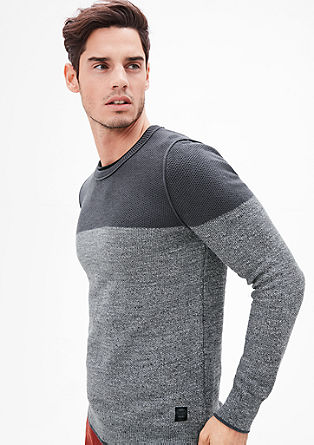 Pattern mix knit jumper from s.Oliver
