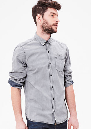 Regular: shirt with a herringbone pattern from s.Oliver