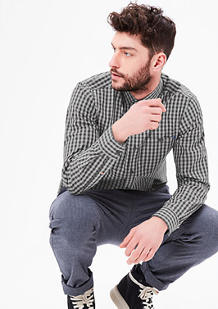 Slim: Hemd mit Karomuster