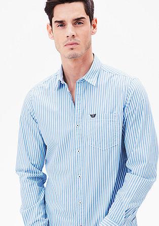 Slim: Hemd mit Webstreifen