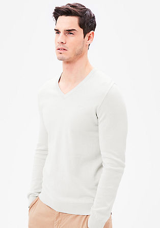 Fine knit V-neck jumper from s.Oliver
