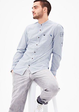 Slim fit: chambray overhemd