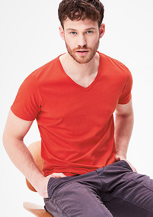 V-neck jersey T-shirt from s.Oliver