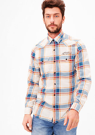 Slim: cotton check shirt from s.Oliver