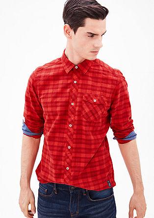 Regular: gingham long sleeve shirt from s.Oliver