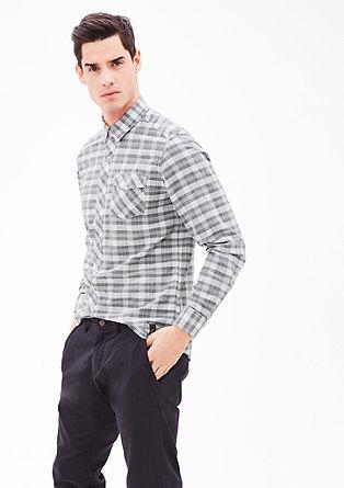 Regular: Kariertes Langarmhemd
