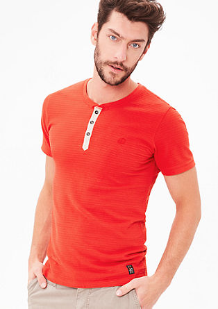 Jersey T-shirt with a textured pattern from s.Oliver