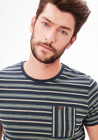 Jersey-Shirt mit Streifen