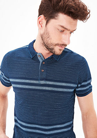 Patterned polo shirt with a washed finish from s.Oliver